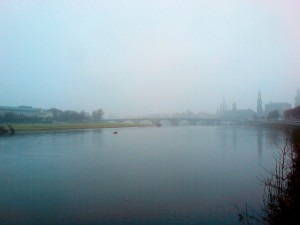 Dresden in Nebel